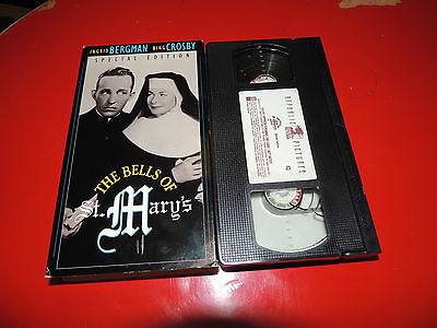 VHS The Bells of St Mary's SPECIAL EDITION: Ingrid Bergman Bing Crosby Donnelly