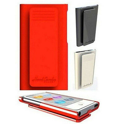 Fashion Smooth hard case with belt clip cover skin for Apple ipod nano 7 7th gen