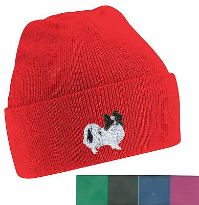 Papillon Beanie Hat Embroidered by Dogmania