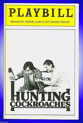 Playbill + Hunting Cockroaches + Ron Silver, Dianne Wiest, Reathel Bean, Larry B