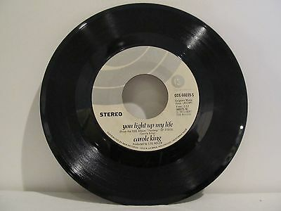 45 RECORD CAROLE KING- YOU LIGHT UP MY LIFE