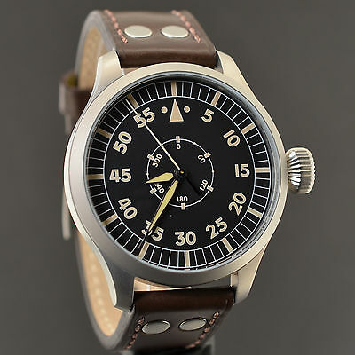 Aristo Vintage Fliegeruhr 3H144A Baumuster Navigator Pilot Made In Germany