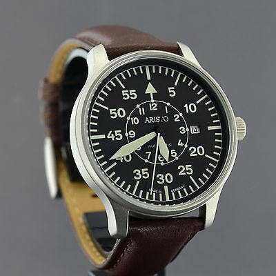 ARISTO PILOT XL 42mm SCHWEIZER AUTOMATIK WERK ARISTOMATIC  FLIEGERUHR 3H116