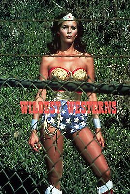 LYNDA CARTER Sexy Busty Photo HOT CLEAVAGE Wonder Woman BARBED WIRE Rare