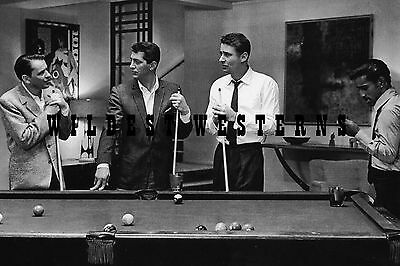 FRANK SINATRA Rat Pack Photo BILLIARDS Pool DEAN MARTIN Ocean's 11 SAMMY DAVIS