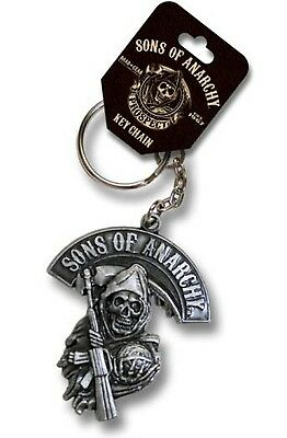NEW SONS OF ANARCHY REAPER  SOA METAL KEYCHAIN KEY RING CHAIN SAMCRO FX TV BIKER