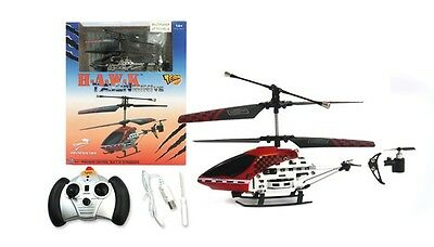 Mini RC 3 Channel Remote Control Metal Helicopter w/ GYRO - RED