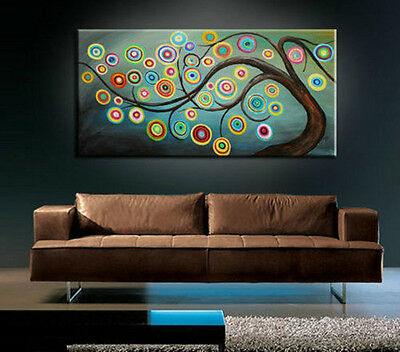 BEAUTIFUL MODERN ABSTRACT HUGE LARGE CANVAS ART OIL PAINTING NO FRAME