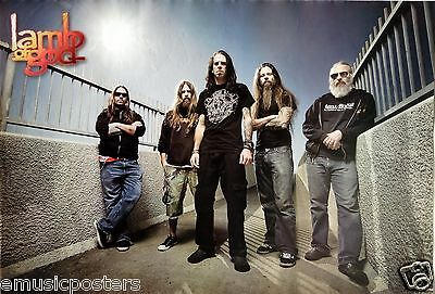 LAMB OF GOD POSTER FROM ASIA - Group Standing Between Two Fences