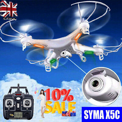 Syma X5C Explorers 2.4G 4CH 6-Axis Gyro RC Quadcopter With HD Camera UK Stock