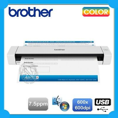 Brother DS-620 Porable A4 USB Mobile Document Color Scanner+USB Bus Power 300dpi