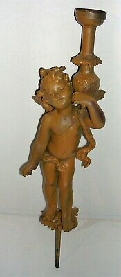 Antique / Vintage Brass / Metal Cherub Figural Piece