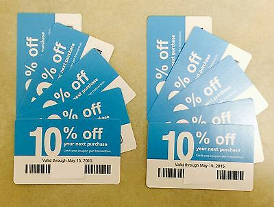 (10) New Lowes 10% off Blue Card Expire May 5/15/15 Home Depot Good At Lowe's