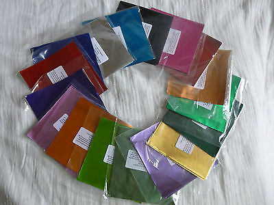 40 - 50 Square Foil Wrappers for Chocolates & Sweets. 80 mm x 80 mm.17 Colours