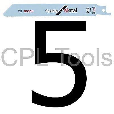 5 Bosch S922EF Reciprocating Sabre Saw Blades 150mm SHEET METAL PROFILES PIPES