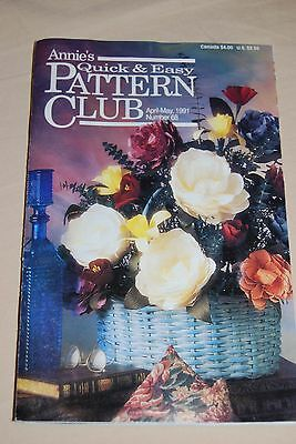 Annie's Quick & Easy Pattern Club Magazine Book April May 1991 ~ Fashion Doll