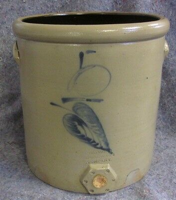 RARE RED WING STONEWARE 5 GALLON SALT GLAZE WATER COOLER SIGNED Lot 90