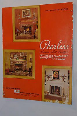 VINTAGE 1960s PEERLESS FIREPLACE FIXTURE CATALOG! ANDIRONS/SCREENS/FIRESETS! +++