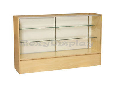 """60"""" Maple Full Vision Showcase Display Case Store Fixture KNOCKED DOWN #SC5M"""
