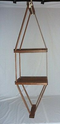 VTG 1970'S RETRO MID CENTURY DANISH MODERN 2 Tier HANGING SHELF
