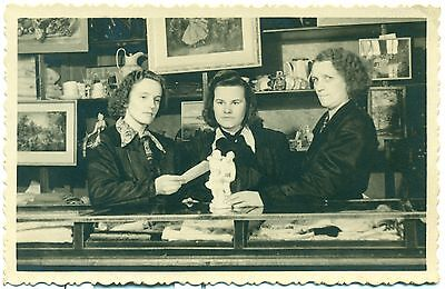 1950's Russia Soviet Antique Store Commission Shop Interior Real Photo