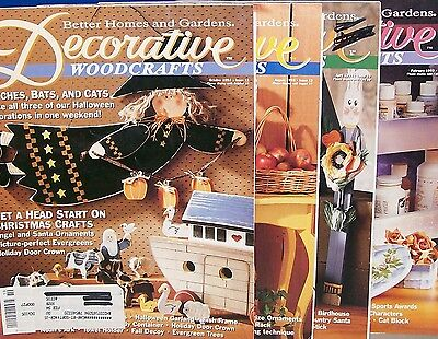 LOT of 4-TOLE Magazines DECORATIVE WOODCRAFTS-all with full size pattern sheets