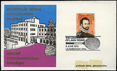 GB 1972 Centeanry Of Lawn Tennis H/S Cover #C19520