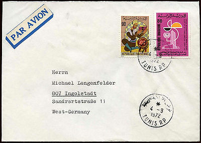 Tunisia 1972 Air Mail Cover To Germany #C18501
