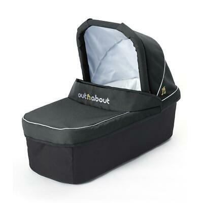 Out n About Nipper Carrycot to fit Double Buggy (Raven Black) with Mattress