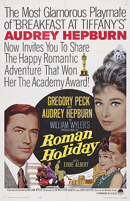 Roman Holiday Audrey Hepburn cult movie poster print #11