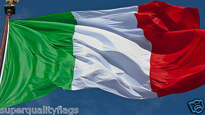 ITALY ITALIAN FLAG WITH BRASS GROMMETS NEW 3x5 ft