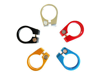 Seat Post Clamp Alloy 7075 T6 Anodised 30mm Various Colours Celt SPC30