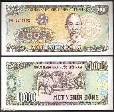 Vietnam / Viet Nam - 1000 Dong 1988 UNC, Pick 106a, Lot of 10 Pieces