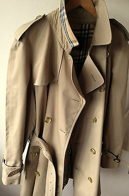 BURBERRY MENS XXL CH 46 -48   BESPOKE SHORT VINTAGE TRENCH COAT RAINCOAT MAC