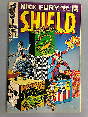 Nick Fury, Agent Of Shield (1968) 1  1St Appearance Scorpio Jim Steranko Marvel