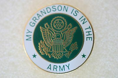 US USA My Grandson Is In The Army Military Hat Lapel Pin