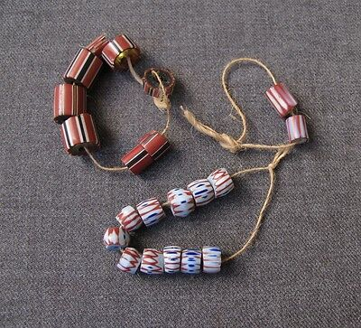 21 ANTIQUE AFRICAN TRADE BEADS    #11