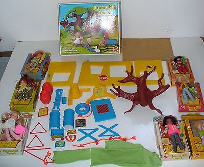 Mattel Honey Hill Bunch Dolls and Clubhouse with Boxes