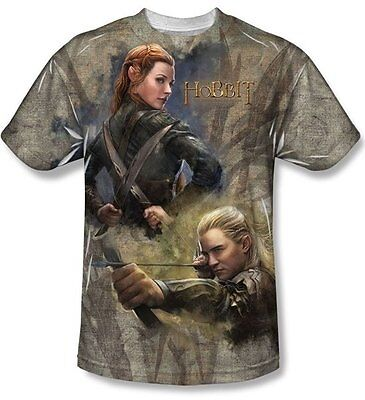 The Hobbit Legolas Elves Sublimation Front Print T-Shirt Size XXL, NEW UNWORN