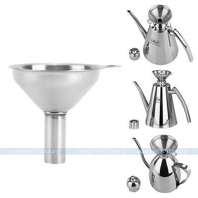 Stainless Steel Mini Liquid Funnel Wide Mouth Kitchen Oil Canning Tool