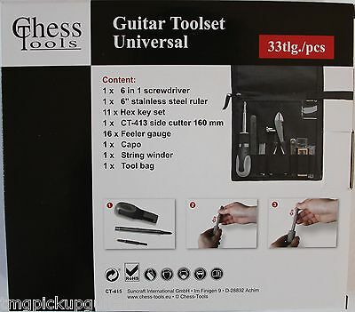 Chess Tools CT415 Guitar Player Tech Kit Werkzeug Set Gitarre Gitarrenbau Werken