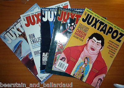 Juxtapoz lot of 5 issues CHEAP! #40, 41, 42, 45, 47 all in good condition!