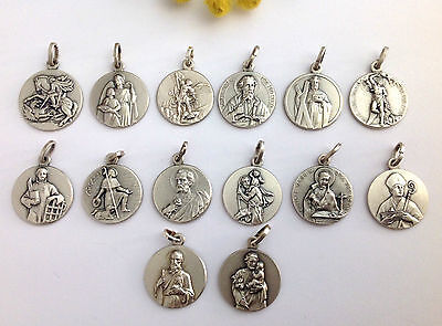 925 Sterling Silver Medals  Of Your Favorite Saint Protector