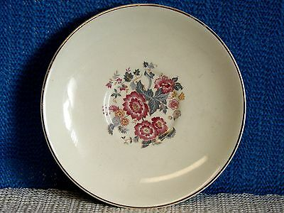 VINTAGE LU-RAY PASTELS COFFEE SAUCER-PINK FLOWERS WITH GOLD TRIM