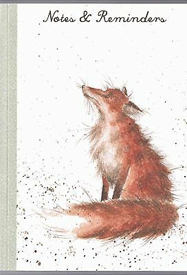 """Wrendale  Country Set  A6 Note Memo Pad """"Artful Poacher""""  Fox Notebook"""
