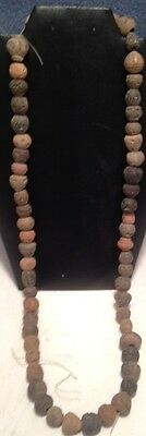 Antique Hand Crafted Clay Beads Middle Classical Period