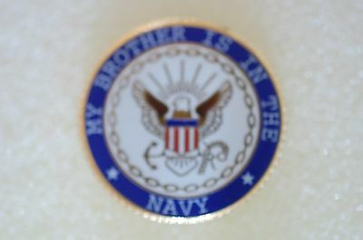 US USA USN My Brother is in the Navy Military Hat Lapel Pin