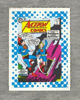 DC Comics Trading Card 1987 SUPERGIRL Cut-Out #30 Cover of Action Comics 252