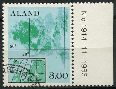 Aland Islands 1984 SG#12, 3m Map Used #A83858