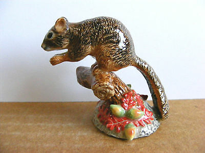 Northern Rose Squirrel On Branch Retired Miniature Animal Figurine Wildlife